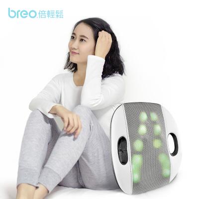 倍轻松(Breo) 背部按摩器 智能靠背 推拿按摩 恒温热敷 12个按摩触头 轻松按摩仪