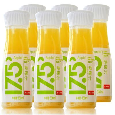 農夫山泉17.5°NFC鮮榨蘋果汁330ml*6瓶鮮果冷榨鮮果汁泡沫箱冰袋