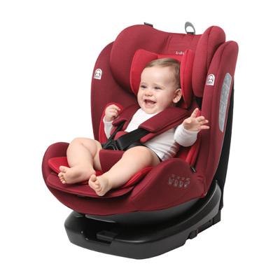 路途樂 汽車兒童安全座椅isofix硬接口 360°旋轉 坐躺可調0-12歲寶寶座椅 路路熊Air Pro 拉丁紅