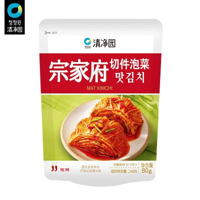 清凈園宗家府韓國切件泡菜80g*5 韓式小菜袋裝咸菜下飯菜配飯菜小菜
