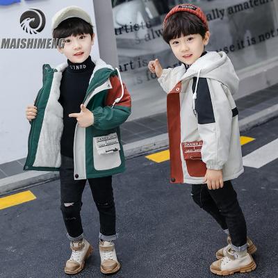 【品牌特卖】男童风衣秋冬装中长款2019年新款儿童加绒加厚大衣开衫外套洋气潮