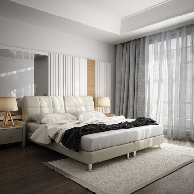 左右真皮软床1.8M双人皮艺床头层牛皮简约现代卧室家具1.5米单人DR029