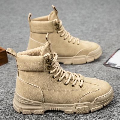 奧休斯(all shoes) 秋季增高耐磨男士馬丁靴 男復古潮流舒適軟底防滑工裝鞋靴子