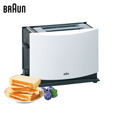 德國博朗(Braun)多士爐HT400早餐烤三明治土司面包機 雙面烘烤帶防塵蓋取消按鍵 家用廚房全自動7檔可調節記憶斷電