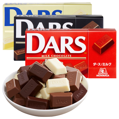 【DARS巧克力3盒裝】3口味各一盒 森永日本進口達詩牛奶巧克力/黑巧克力/白巧克力/休閑零食