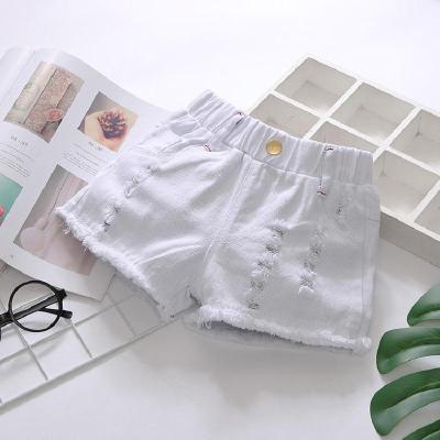 女童牛仔短褲2020新款洋氣外穿女孩熱褲白色兒童褲子薄款夏季韓版 娜蜜雨(NAMIYU)