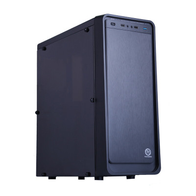 Tt機箱 啟航者S5 黑色 ATX中塔機箱 側透水冷靜音電腦機箱