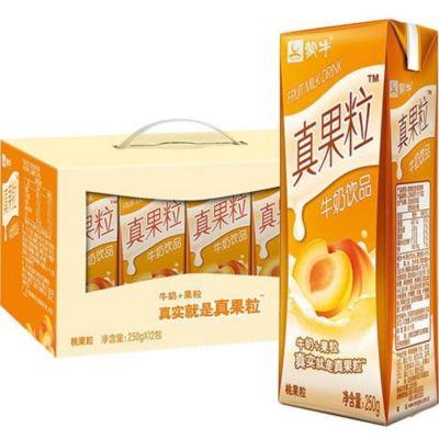 12月25日后蒙牛真果粒桃果口味250ml*12盒整箱發貨