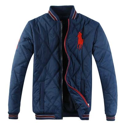 polo ralph lauren 拉夫勞倫男款棉衣 經典大馬標立領開衫拉鏈棉服外套609902寶藍