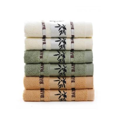 皮爾特廠家批定制廣告毛巾提花斷檔竹葉竹纖維加厚吸水面巾毛巾3條套裝