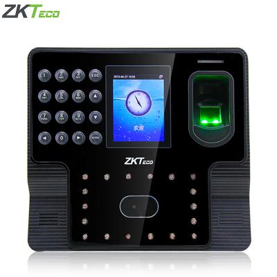 zkteco中控智慧iFace102人臉識別式指紋打卡機面部簽到機雙攝像頭人臉/指紋/ 密碼彩色屏