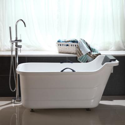 小戶型浴缸家用成人閃電客浴盆雙層保溫日式式D115款彩色小浴缸