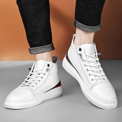 梵蒂加(VENTIGA) 男鞋 新款6063-1 男士高幫鞋 男士休閑鞋 商務鞋 休閑鞋男 高幫小白鞋 休閑皮鞋
