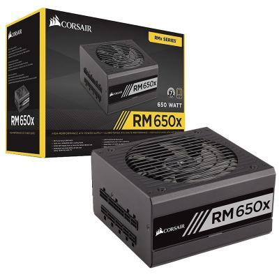 攀升 CORSAIR/海盜船 RM650x 額定650W電源 金牌 全模組 靜音電源 臺式機電源 電腦電源
