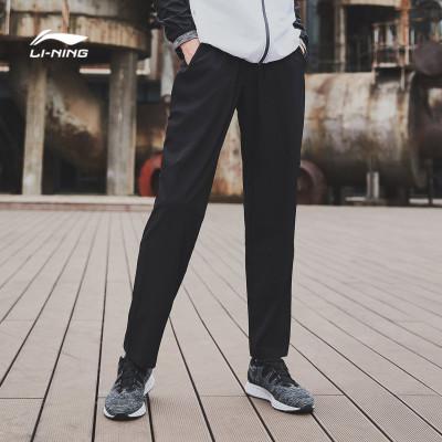 李寧運動褲男士新款跑步系列速干涼爽梭織平口夏季運動褲AYKM057