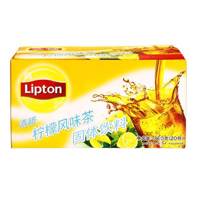立顿Lipton 清新柠檬风味茶 20包360g 精选优质茶叶 办公室休闲下午茶固体饮料