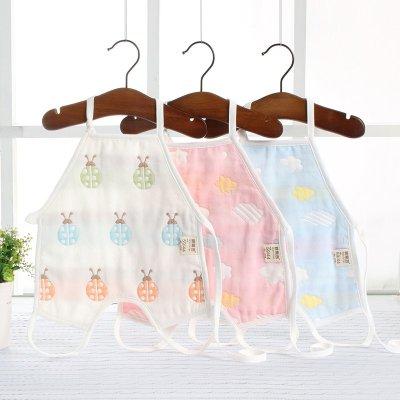 六層純棉紗布肚兜兒男女寶寶護肚圍兒童夏季薄款連腳嬰兒兜兜臻依緣