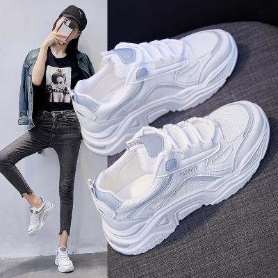思可圖(SIKETU) 2020秋季運動女士休閑鞋 女韓版原宿百搭增高反光跑步老爹鞋