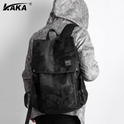 KAKA雙肩包男潮包多功能電腦包男背包多隔層收納背包行李箱男士雙肩包高中生大學生書包