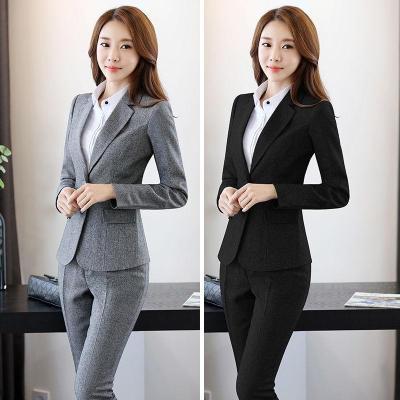单件/套装可选春秋季职业装女装套装西服外套西装正装工作服装 臻依缘