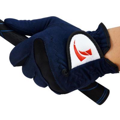 户外新款高尔夫球手套 男款 超纤布手套 柔软耐磨透气放心购