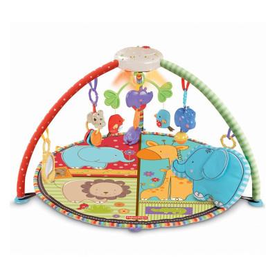 費雪Fisher Price健身架兒童健身器 愛心動物聲光健身器T6339