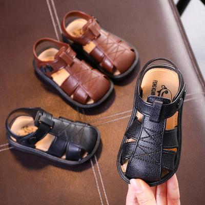 秋季男童包头凉鞋学步鞋韩版中小童鞋2019宝宝软底儿童男孩沙滩鞋 莎丞