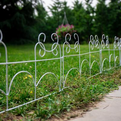 铁丝网花园围栏铁艺护栏加粗锌钢栅栏铁艺草坪护栏防护网隔离围栏别墅花园市政道路栏杆园林