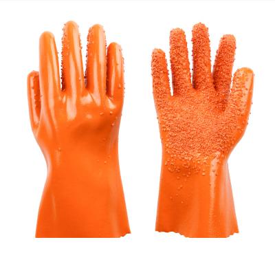 防水防滑工作耐磨防油加厚全膠皮顆粒橡膠止滑勞保橡膠手套