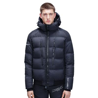 HOTSUIT羽絨服2019冬季新款男輕質保暖防風加厚短款連帽外套加厚