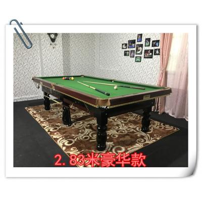 运动户外台球桌标准成人家用美式黑8台球案乒乓球桌二合一商用桌球台广东放心购