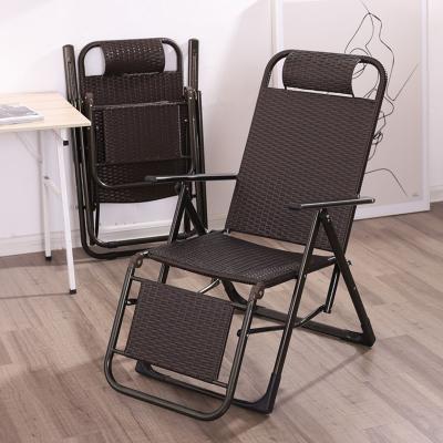 檀星星折疊椅子躺椅折疊午休藤椅靠背椅家用便攜陽臺午睡休閑椅老人涼椅