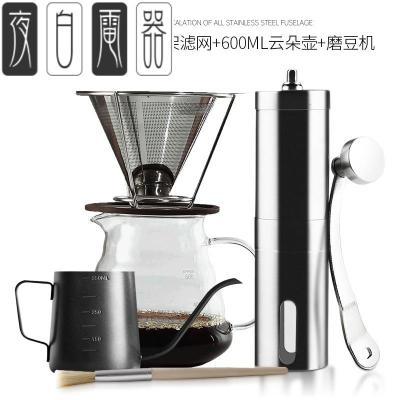 手摇磨豆机家用小型咖啡机水洗便携手动磨咖啡粉碎器咖啡豆研磨机