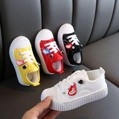 兒童帆布鞋男童女童小白鞋寶寶鞋幼兒園餅干鞋秋冬季小童球鞋潮