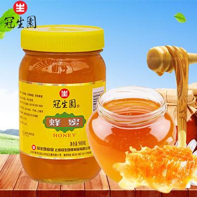 上海冠生园 蜂蜜900克*2瓶 大瓶装蜂蜜 百花蜜 土蜂蜜 送礼礼物 上海特产 蜂蜜