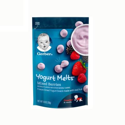 美国Gerber嘉宝 酸奶溶豆 混合莓味 28g 儿童零食 三阶段 8个月以上