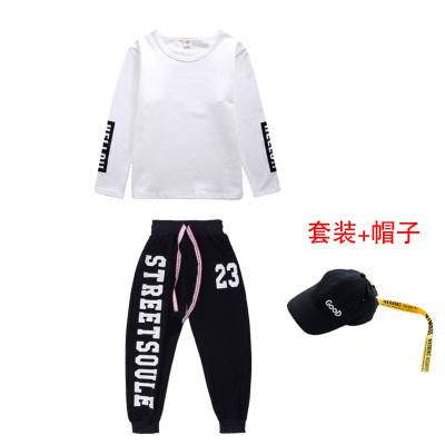 舞蹈服儿童女爵士舞演出韩版露脐女童练功服装街舞套装嘻哈风潮衣