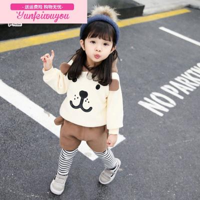童装套装女宝宝冬装加绒婴儿幼儿童1-3岁冬季衣服2小童两件套装潮