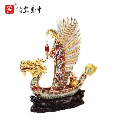 中藝盛嘉張同祿景泰藍現代中式送客戶 一帆風順中藝堂收藏品