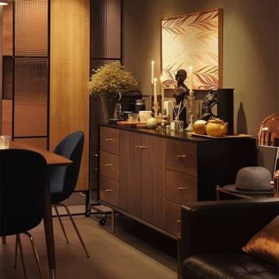 梦引 北欧简约实木餐边柜网红电视柜客厅茶水柜玄关柜橱柜碗柜储物柜