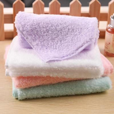 野 4條裝棉花糖方巾嬰兒寶寶兒洗臉柔軟吸水四方小毛巾女 定制