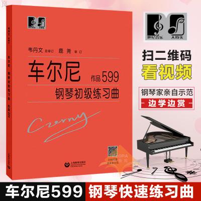 正版 车尔尼599大字版 车尔尼钢琴初级练习曲作品599 钢琴初步教程乐谱初学者入门教材 钢琴曲集基础自学书籍 拜厄哈农