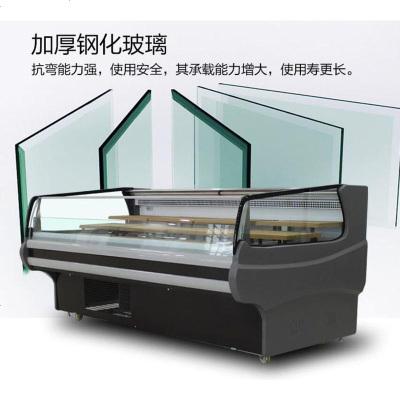 顾致法尔文鲜肉展示柜冷鲜肉商用卧式猪肉熟食冷藏保鲜柜铜管冰柜冷柜