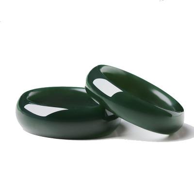 序壹(XUYI)天然和田玉青玉戒指男士指環飾品女款潮男玉戒指送證書情侶