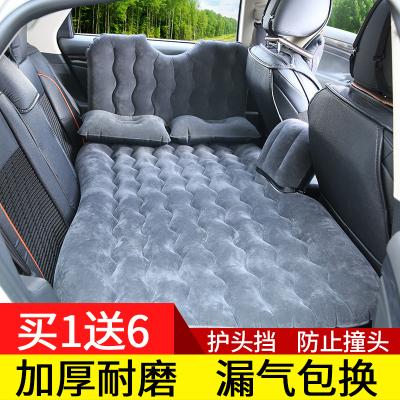 車載充氣床汽車用品睡覺床墊閃電客轎車SUV中后排后座睡墊氣墊床旅行床 豪華款-灰