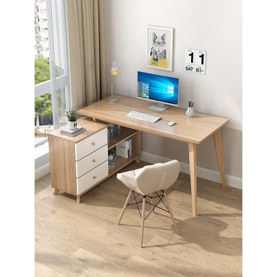 檀星星電腦臺式桌家用轉角簡約書桌書柜一體組合臥室寫字學習辦公桌