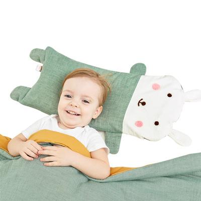 龙之涵(LONGZHIHAN)婴儿枕宝宝四季纱布加长枕头儿童幼儿园卡通荞麦壳枕头1-3-6-12岁