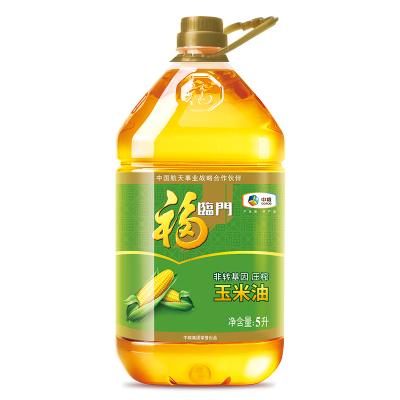 中糧福臨門非轉基因壓榨玉米油5L/桶物理壓榨一級家用食用油 優選玉米胚芽 東北風味