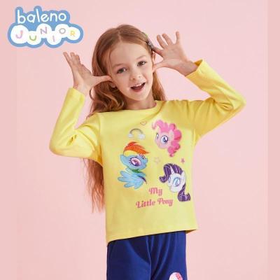 【5.5折價:42.3】班尼路2020年新款小馬寶莉印花女童T恤長袖童裝秋冬紅色上衣洋氣