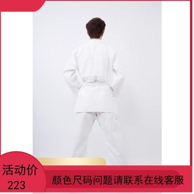 比赛训练柔道服装 男女道服西柔术服 成人儿童白色蓝色加厚灯芯棉